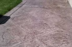 Stamped Concrete Patio Lakeside